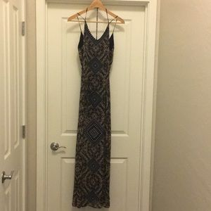 ASTR black patterned maxi dress
